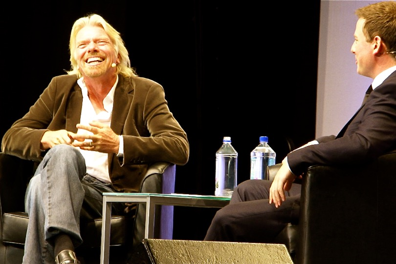 Richard Branson on stage (photo supplied)
