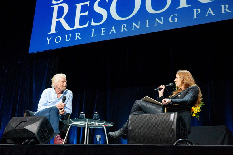 Sir Richard Branson and Lisa Messenger at Inspire and Succeed