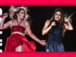 JLO & Shakira at SB (Image Source- Yahoo News)