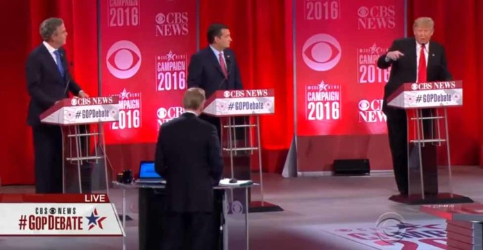 'I'm Sick and Tired' Jeb Blows Up at Trump as GOP Frontrunner Gets Repeatedly Booed as CBS Debate, donald trump, business, politician