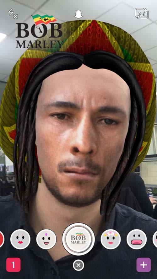 Bob Marley on Snapchat, crowdink.com, crowdink.com.au, crowd ink, crowdink, bob marley, snapchat, 420