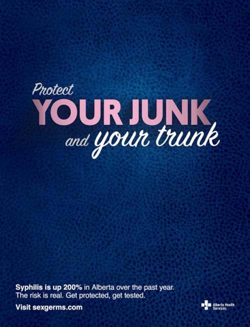 Protect Your Junk (Image Source: sexgerms.com), crowdink.com, crowdink.com.au, crowd ink, crowdink, std, awareness
