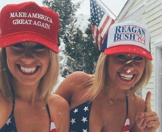 Trump Girls Feature [image source: Twitter], crowdink, crowd ink, crowdink.com, crowdink.com.au
