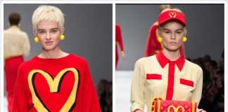 McDonalds Inspired Moschino [image source; Vogue.com / Moschino 2014 Fall Ready to Wear collection] , crowd ink, crowdink, crowdink.com, crowdink.com.au