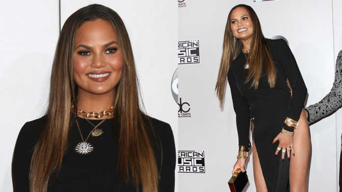 Chrissy Teigen at AMAs, crowdink.com, crowdink.com.au, crowd ink, crowdink
