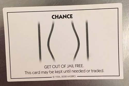 Get out of jail free card (Image Source: Huffingtonpost), crowdink.com, crowdink.com.au, crowd ink, crowdink