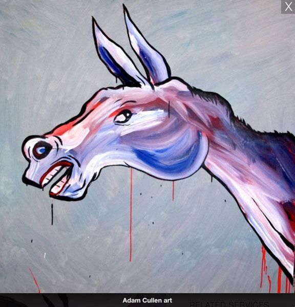 crowdink.com, crowdink.com.au, crowdink, crowd ink, PREHISTORIC HORSE by Adam Cullen