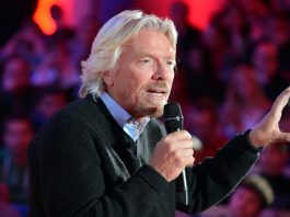 Richard Branson with microphone (Photo Supplied)