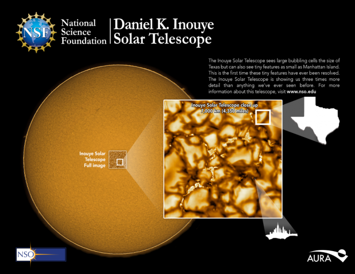 Most detailed image of the sun. Image Source- National Science Foundation