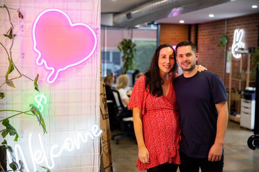 Jess Munday and Husband Jake Munday Co-founder of Custom Neon